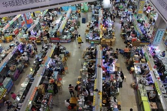 Một khu chợ đầu mối điện tử lớn tại Trung Quốc